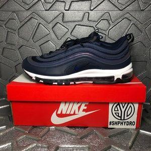 Nike Shoes | Air Max 97 Obsidian Navy White 921826402 | Poshmark